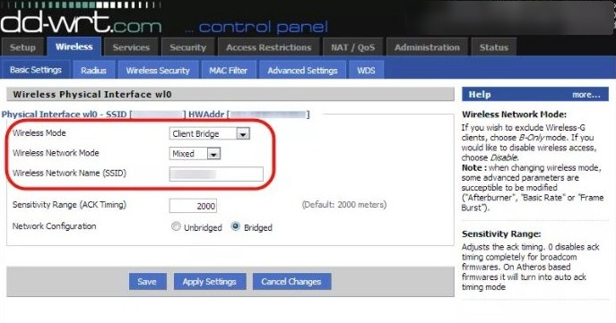 SSID interface