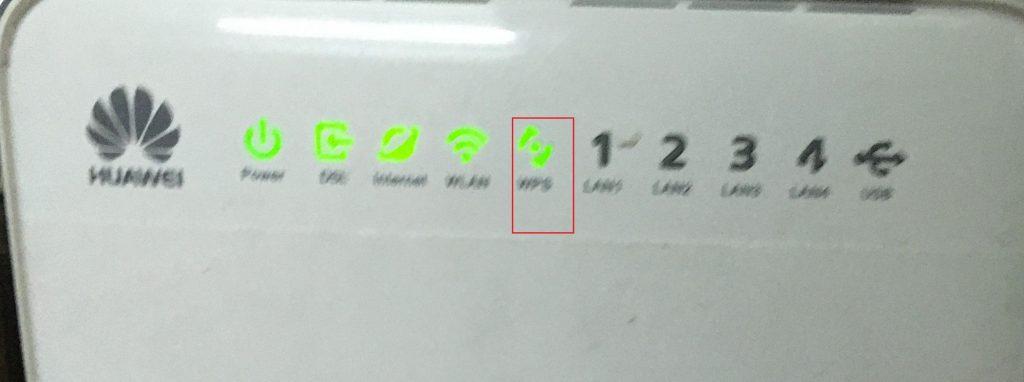 WPS light blinks in router