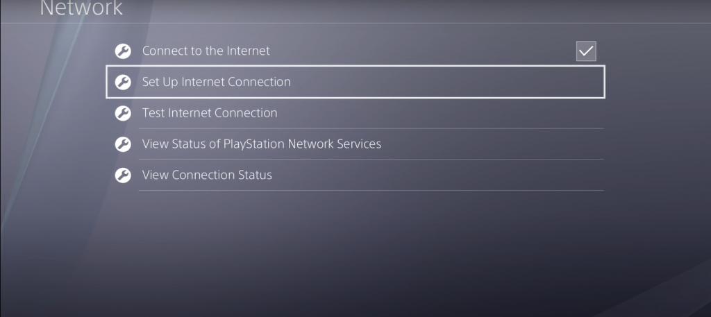 Setup up internet connection